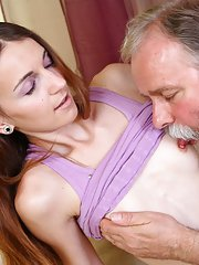 Nina loves to please her boyfriend, so she do what any loving girl would do for her man. She gets fucked by an older guy in order to improve her techn